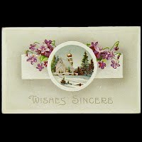 Antique Embossed POstcard Wishes Sincere