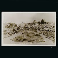 Antique Photo Postcard, 1919 Grand Hotel after Tornado