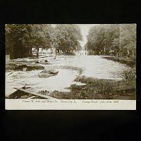 Antique Photo Postcard, Flood Sioux City Iowa 1909