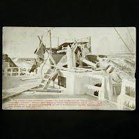 Antique Photo Postcard, Demolished Steerage of Steamer Umbria 1905