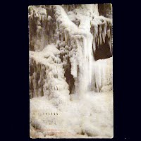 Antique Photo Postcard, Ice Formations after million dollar fire in Chicago 1908