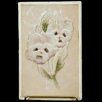 Antique Velvet Embossed Postcard, Flower