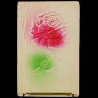 1909 Antique Embossed Postcard, Flower