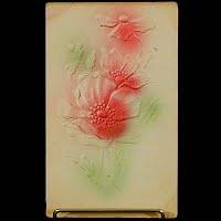 1911 Antique Embossed Postcard, Flower