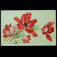 1910 Embossed Antique Postcard, Flower