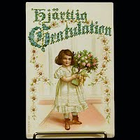 Antique Postcard, Congratulation