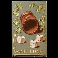1908 Antique Postcard, Good Luck