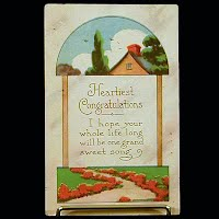 1914 Antique Postcard, Congratulation