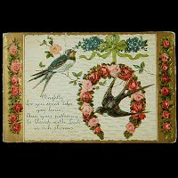 Antique Embossed Postcard, Good Luck