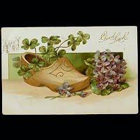 Antique Postcard, Good Luck