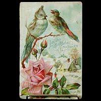 Antique Birthday Postcard, postmark 1910