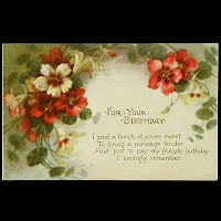 Antique Birthday Postcard, 1915