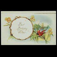 Antique Birthday Postcard