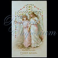 Antique Hold to Light Easter Post Card