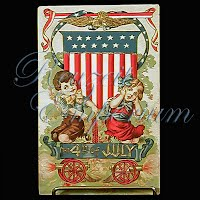 Antique Fourth of July Post Card