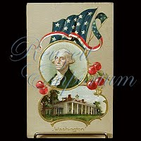 Antique George Washington's Birthday Post Card
