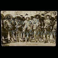 Real Photo Antique Postcard, H H Stratton Mexican Generals
