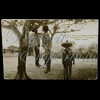 Real Photo Antique Postcard, Mexican Revolution, Familiar Scene in Mexico during Revolution of Past 3 Years