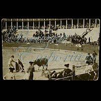 AntiquePostcard, Bull Fights Juarez Mexico