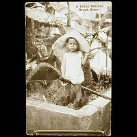 Real Photo Antique Postcard, Mexican Revolution Young Mexican Rough Rider