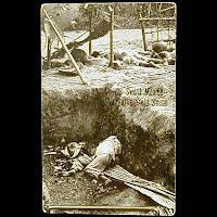 Real Photo Antique Postcard, Mexican Revolution, War Swept Mexico A Battlefield Scene