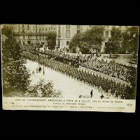 Real Photo Antique Postcard, WWI Paris July 4, 1918