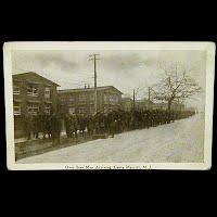 Real Photo Antique Postcard, World War I Over Seas Men Arriving Camp Merritt, NJ