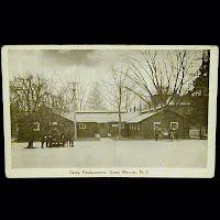 Real Photo Antique Postcard, World War I Camp Headquarters Camp Merritt NJ