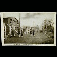 Real Photo Antique Postcard, World War I Stockade Camp Merritt, NJ Postcard