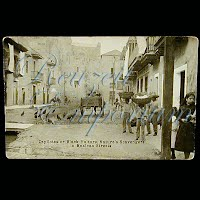 Real Photo Antique Postcard, Mexican Revolution, Black Vultures in Mexican Streets