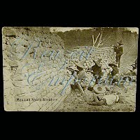 Real Photo Antique Postcard, Mexican Revolution, Mexican Sharp Shooters