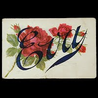 1910 Antique Postcard, Eva