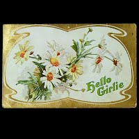1910 Embossed Antique Postcard, Hello Girlie