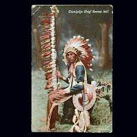 1909 Antique Photo Postcard, Ehankekle Chief comes last