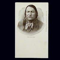 Antique Photo Postcard, Chief John Grass