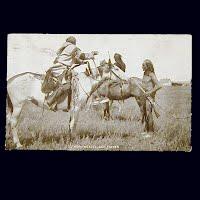 1908 Antique Photo Postcard, Horn Weazel Sign Talker