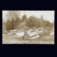 Antique Photo Postcard, Menominee Indian Reservation Indian Cemetery
