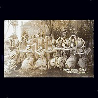 Antique Photo Postcard, 1915 Indian Girls School in Pipestone MN