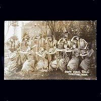 Antique Photo Postcard, 1915 Indian Girls School in Pipestone MN