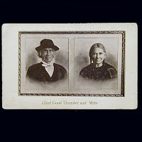 Antique Photo Postcard, 1895 Chief Good Thunder and his Wife