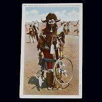 Antique Photo Postcard, Buffalo Medicine
