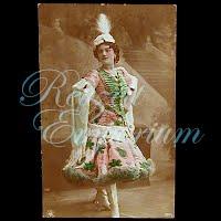 Antique Oranotypie Woman Dancer Postcard
