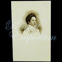 Antique 1910 Woman Postcard