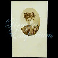 Antique Woman with Bow Postcard