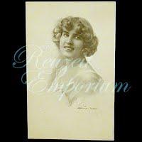 Antique Schlesinger Woman Postcard