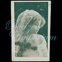 Antique 1908 Girl with Roses Postcard