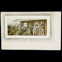 Antique 1915 Real Photo Tree House & Men Postcard
