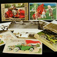 Antique and Vintage Car Postcards, Antique and Vintage Car Post Cards