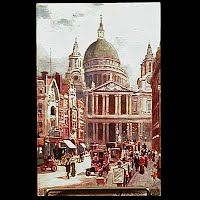 Antique Tuck Postcard, Oilette St. Paul's Cathedral London