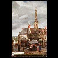 Antique Tuck Postcard, Oilette Somerset Shepton Mallet Market Cross